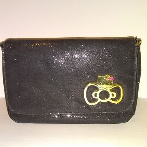 Hello Kitty- Black Sparkle Purse (Small Flaw!!!)